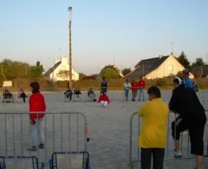 Finale du championnat dans le carré d'honneur de Questembert.