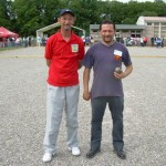 Stephant contre Pastor au championnat de France de pétanque individuel