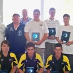 finalistes du championnat du Morbihan de pétanque triplette junior 2011