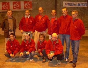 équipe de la pétanque lanestérienne en coupe de France des clubs