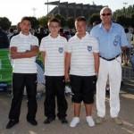 Les champions de ligue juniors de la pétanque lanestérienne