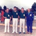 Franck Jaffré, Pascal Sujet et Pierre Yves Le Goauriguer au France Triplette 1990