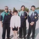 Michel Gilbert et les frères Stéphant au championnat de France de pétanque à Avignon