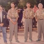 Les frères Stéphant et Michel Gilbert de la pétanque lanestérienne à Nantes 93
