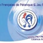 Licence de pétanque FFPJP au club de Lanester