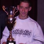 Anthony Stéphant reçoit le trophée du meilleur club junior 2007