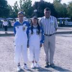 Mickaël et Michelle Stéphant au France mixte de pétanque FFPJP 2006