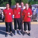 Sébastien Le Vilain, Benjamin Le Doussal et Brendan Morand au France