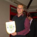 Pierrick Le Ruyet et le fanion du meilleur club du CD56 en 2006