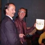 Pierrick Le Ruyet reçoit le fanion du meilleur club du CD56 en 2007